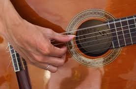 Playing guitar with your fingers