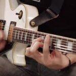 playing rhythm guitar