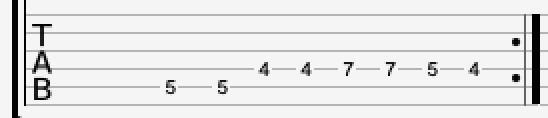 Lead guitar riff 2