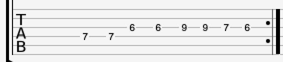 Lead guitar riff 3