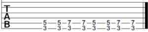 Blues shuffle rhythm