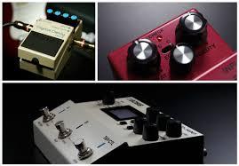 Delay guitar pedals