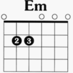 E minor chord chart